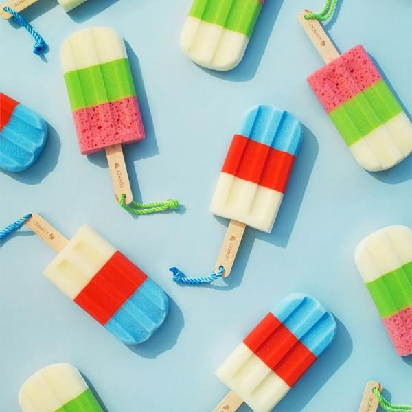 Schwamm Ice Pop weiß, grün, rot (Spülbürste, Küche, Lappen, Schwämme, Glasreinigung)