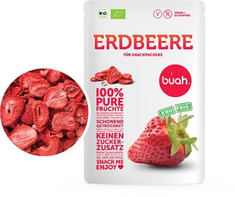 100 % pure Früchte Bio Erdbeere (Trockenfrucht, Frische, Natur, Qualität)