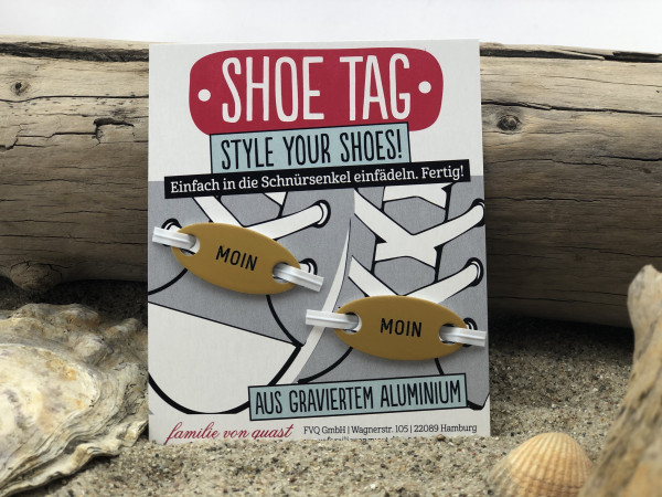 Shoe Tag, Style Your Shoes, Moin Moin (Schnürsenkel, Cool, Schuhe,Schuh Charms, Schuh-Schmuck, Tren