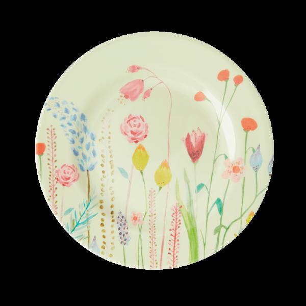 Melamin-Beilagenteller Sommerblumen, Firma Rice