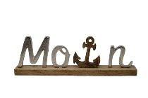 """Metallbuchstaben """"Moin"""" mit Anker, 39 cm x 14 cm (Dekoration, Bad, Küche, Appartement)"""