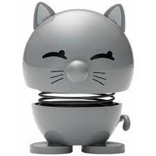 Hoptimist kleine Katze, cool grey (Wackeltiere,Gute Laune)