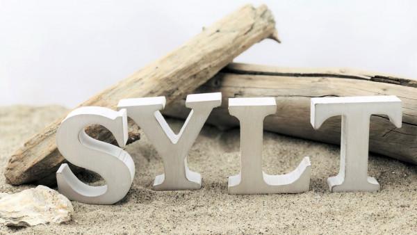 Holzbuchstaben Sylt (Dekoration Dekobuchstaben Sylt Urlaub Natur)