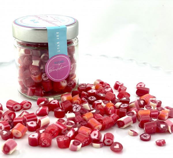 Handgemachte Sylter Bonbons Rocks LOVE-Mischung 150 gr.: verschiedene Geschmäcker ; süß