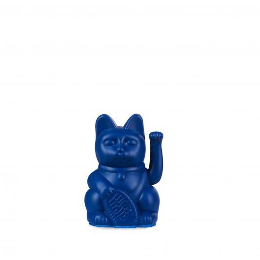 Winkekatze Katze Maneki Neko Japan Lucky Cat mini dunkelblau