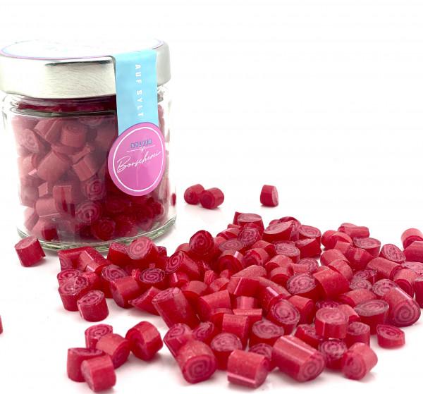 Handgemachte Sylter Bonbons Rocks ROSEN 150 gr. ; süß