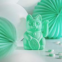 Winkekatze Katze Maneki Neko Japan Lucky Cat mintgrün