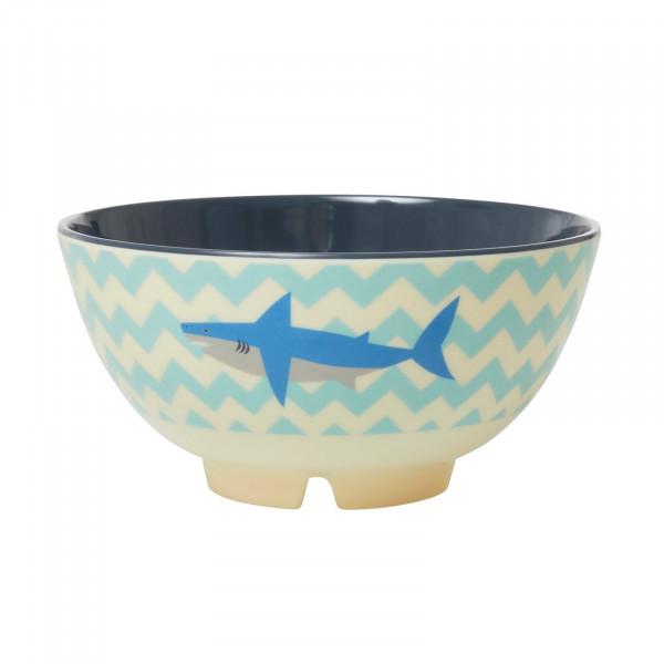 Melamin-Schale Hai, groß, Firma Rice