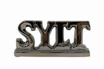 """Keramik-Buchstaben """"SYLT"""", silberfarbend, 20 cm x 4 cm x 7 cm (Dekoration, Bad, Küche, Appartement)"""