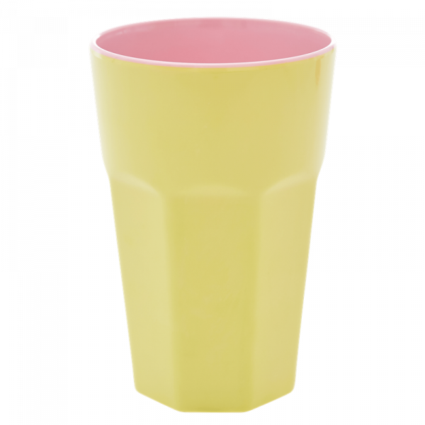 Melamin-Becher Gelb, 13 cm x 9 cm, Firma Rice