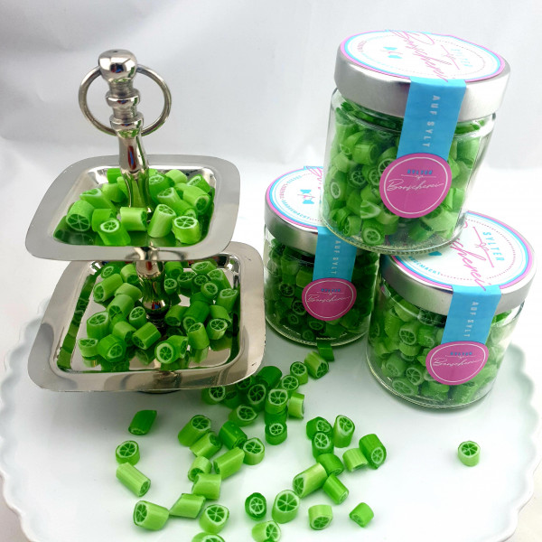 Handgemachte Sylter Bonbons Rocks Limette 150 gr.; süß,sauer (Bonschen)