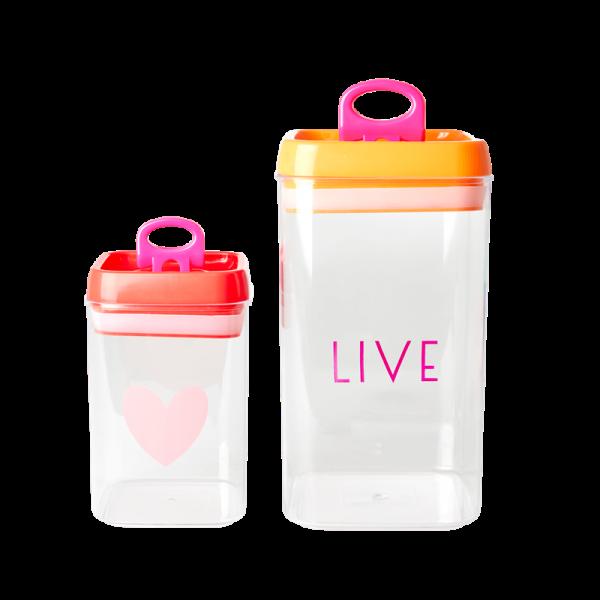 Lebensmittelboxen Live/Heart, small/tall, Firma Rice