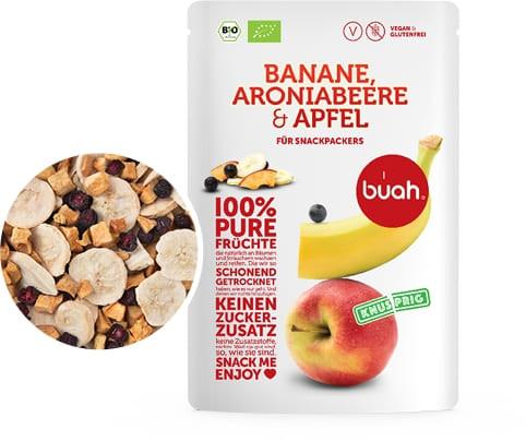 100 % pure Früchte Bio Banane, Aroniabeere & Apfel (Trockenfrucht, Frische, Natur, Qualität)