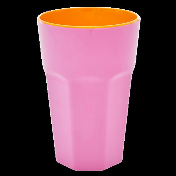 Melamin-Becher Pink, 13 cm x 9 cm, Firma Rice