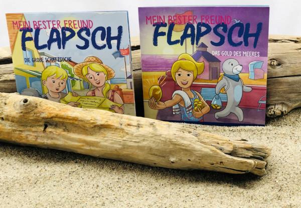 Kinderbuch Flapsch Die große Schatzsuche (Minibuch, Kinderbuch)