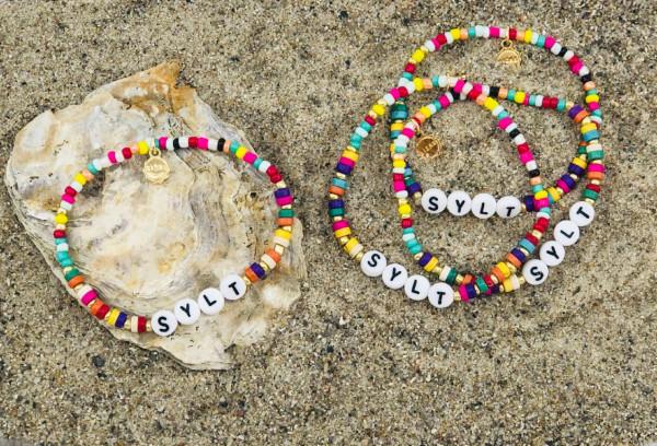 Armbänder mehrfarbig Sylt bunt (Schmuck, Geschmeide, Dekoration, Modeschmuck)