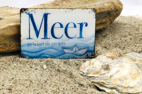 Softmagnet Meer ist besser als weniger (Magnet, Küche, Kühlschrankmagnet, Heizkörper, Dekoration)