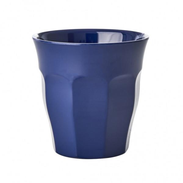 Melamin-Becher navy blau, 9 cm x 9 cm, Firma Rice