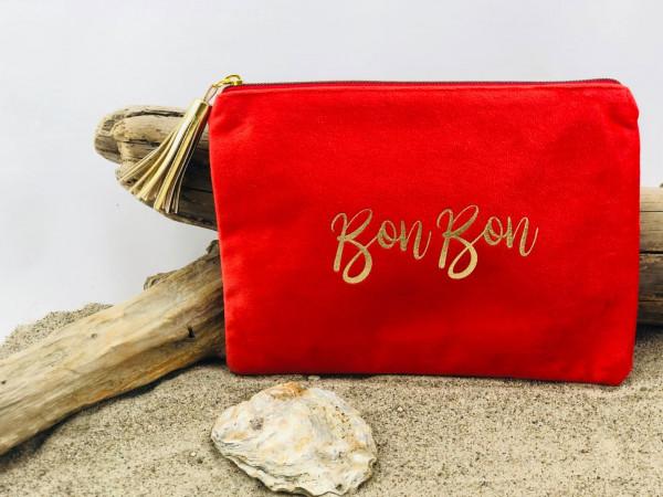 Mäppchen BonBon rot (Kosmetik, Tasche, Schreibutensilien, Geldkarten, Telefon, Make-up)