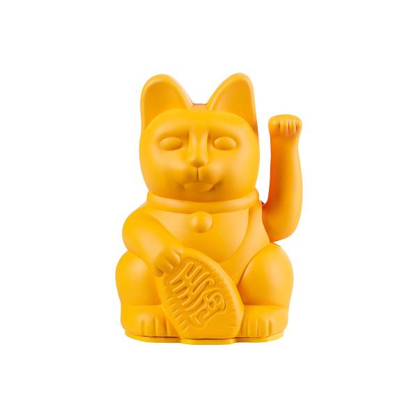 Winkekatze Katze Maneki Neko Japan Lucky Cat dunkelgelb