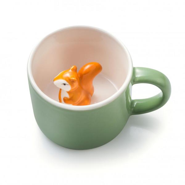 Tier Tasse Simon ( Tasse,Natur, Ökologisch,Eichhörnchen, Kinder)