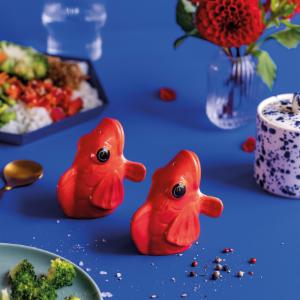"Koi ""Fishes for Dishes"", Salz- und Pfefferstreuer, Rot"