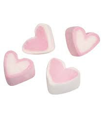 Mellow Pinky Hearts Schaumzuckerware