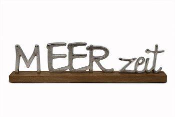 """Metallbuchstaben """"MEERzeit"""", 49 cm x 14 cm (Dekoration, Bad, Küche, Appartement)"""