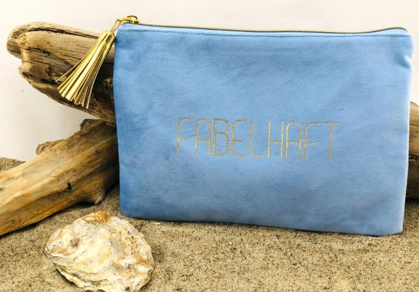 Mäppchen Fabelhaft blau (Kosmetik, Tasche, Schreibutensilien, Geldkarten, Telefon, Make-up)