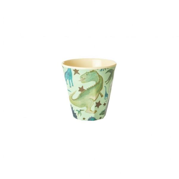 Melamin-Kinderbecher Dinosaurier, 7,5 cm x 7,5 cm, Firma Rice