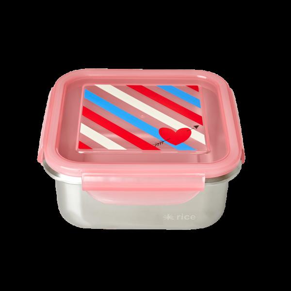 Edelstahl-Brotdose Streifen, Firma Rice