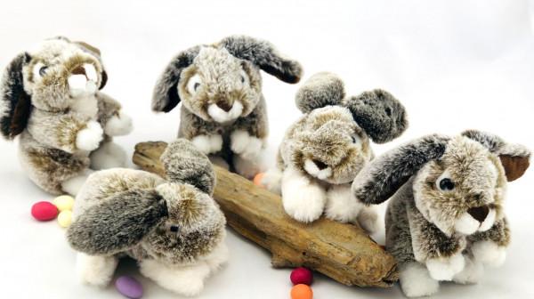 Plüsch Sylt-Kaninchen hockend (Kaninchen Kuscheltier Plüschtier)