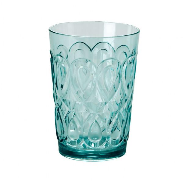 Wasserglas Acryl mintgrün, 9 cm x 12,5 cm, Firma Rice