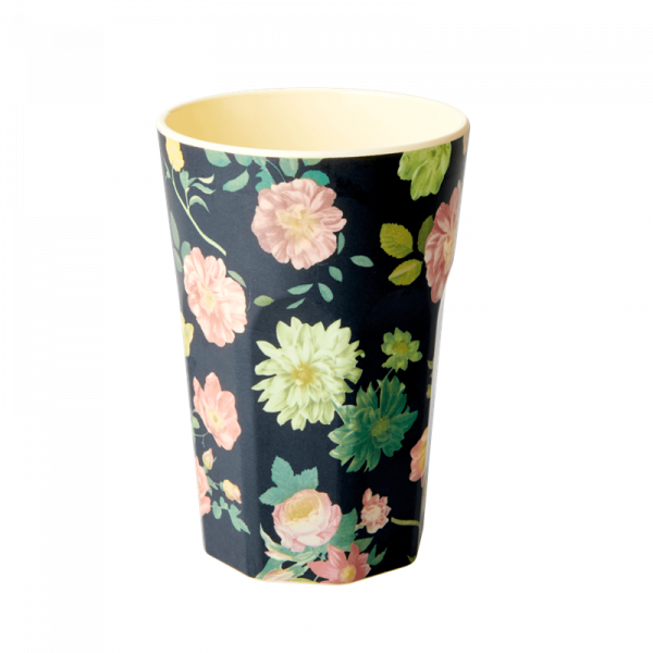 Melamin-Becher Rose, 13 cm x 9 cm, Firma Rice