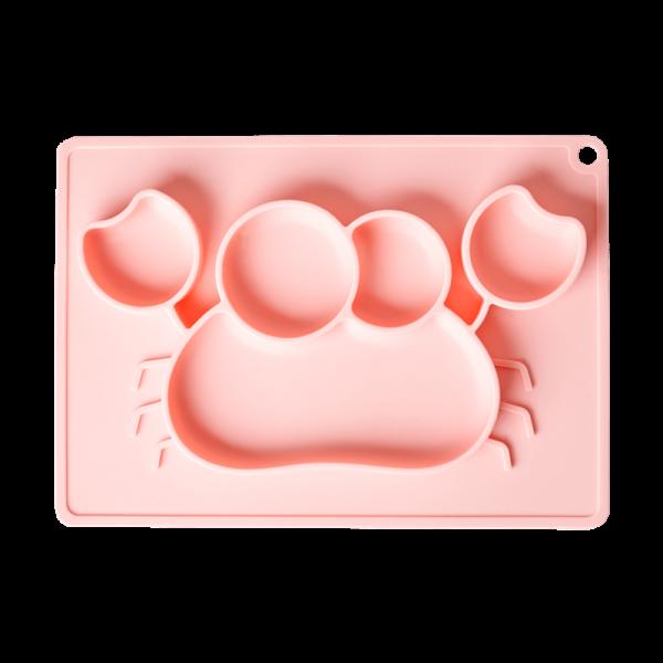 Silikon Kinderteller Krabbe rosa, Firma Rice