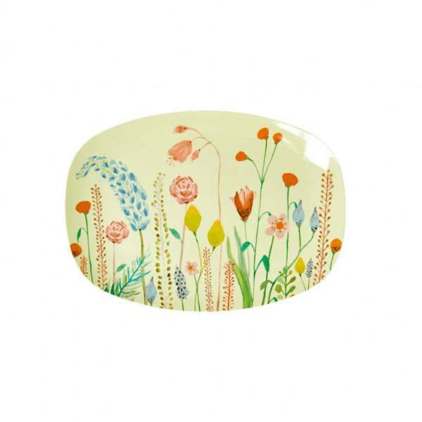 Melamin Servierplatte Sommerblumen, Firma Rice