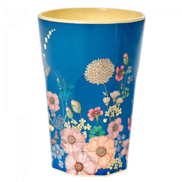 Melamin-Becher Blumen Collage, 13 cm x 9 cm, Firma Rice