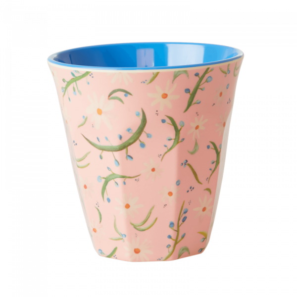 Melamin-Becher Gänseblümchen, 9 cm x 9 cm, Firma Rice