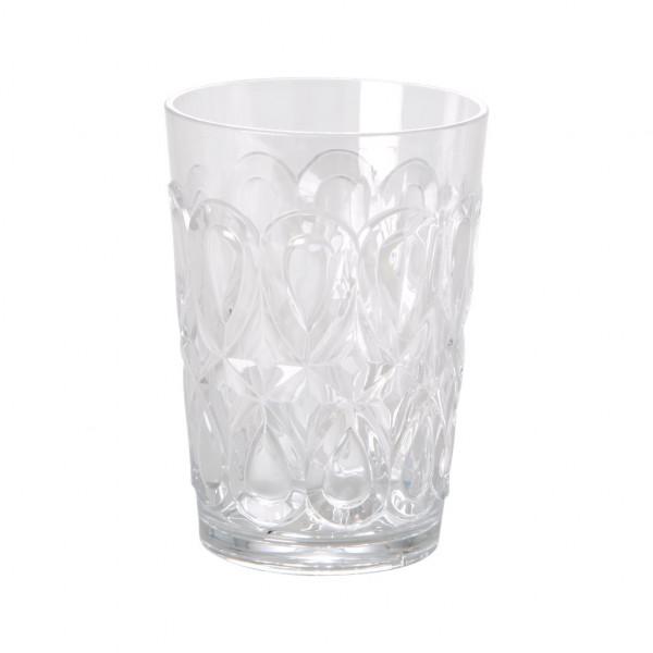 Wasserglas Acryl klar, 9 cm x 12,5 cm, Firma Rice