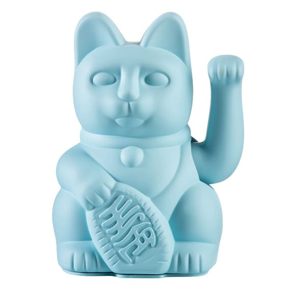 Winkekatze Katze Maneki Neko Japan Lucky Cat blau