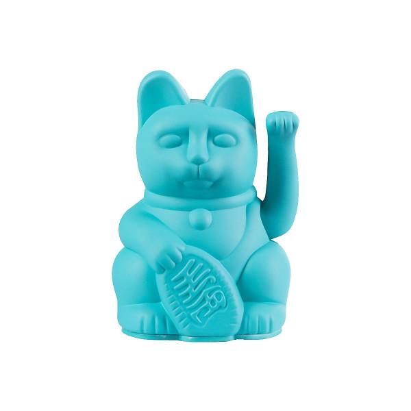 Winkekatze Katze Maneki Neko Japan Lucky Cat mini Türkis