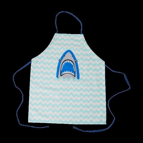 Kinder Baumwollschürze Hai blau, Firma Rice