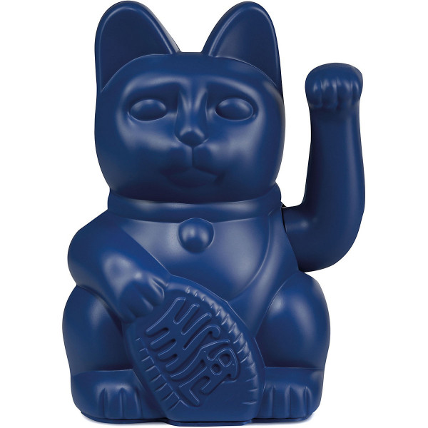 Winkekatze Katze Maneki Neko Japan Lucky Cat dunkelblau