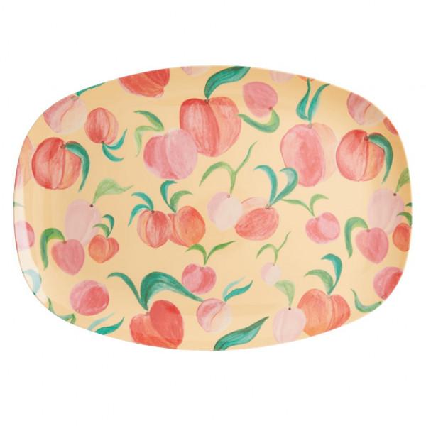 Melamin Teller Pfirsiche rechteckig, Firma Rice