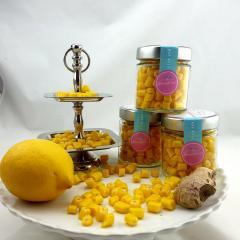 Handgemachte Sylter Bonbons Zitrone-Ingwer 150 gr.; süß;sauer,scharf
