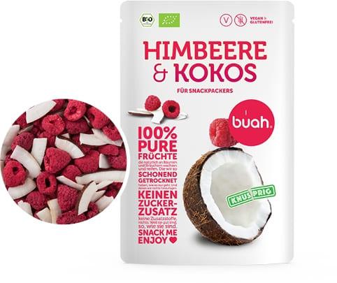 100 % pure Früchte Bio Himbeere & Kokos (Trockenfrucht, Frische, Natur, Qualität)