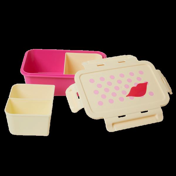 Lunchbox Kiss Print Pink, Firma Rice