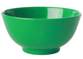 Melamin-Schale Grün, groß, Firma Rice