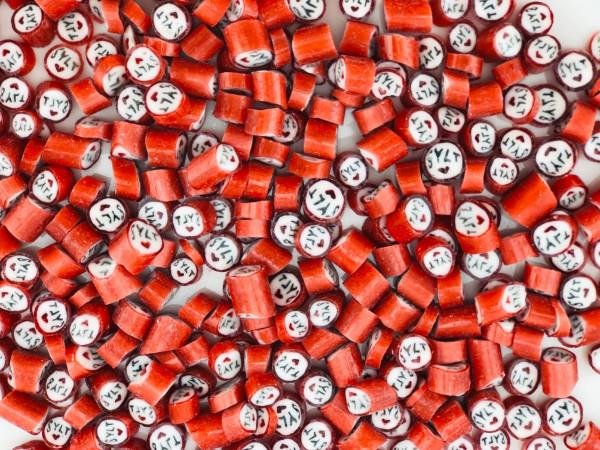 Handgemachte Sylter Bonbons Rocks Sylt, Herz: Erdbeer, Vanille; süß (Bonschen)