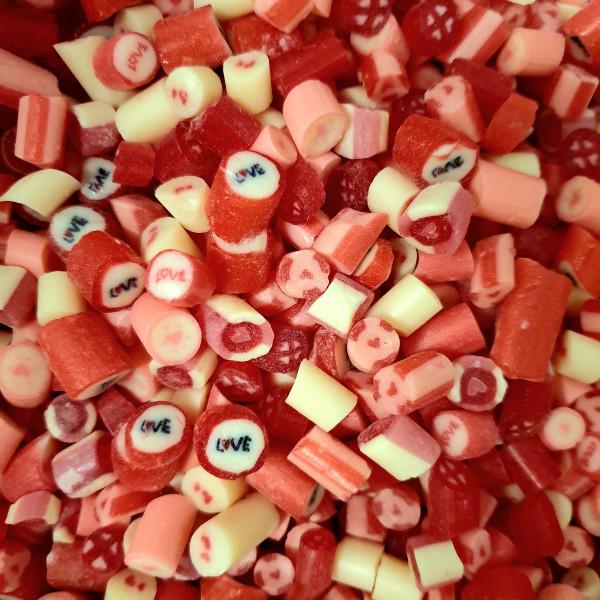 Handgemachte Sylter Bonbons Rocks LOVE-Mischung 150 gr.: verschiedene Geschmäcker ; süß,sauer